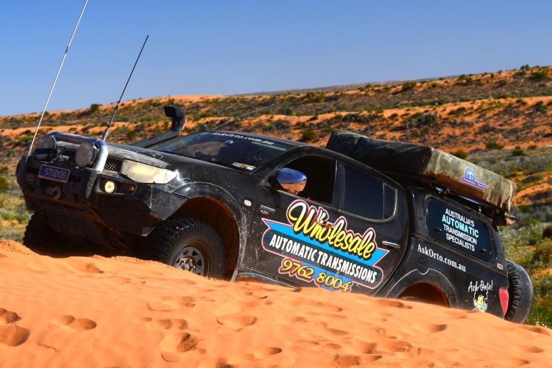 Simpson Desert Climbing Sand Dunes