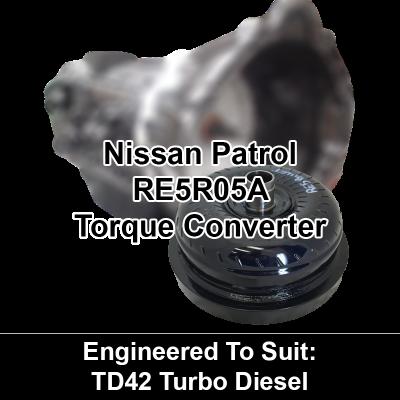 Torque Converter to suit Nissan RE5 - behind TD42 Turbo Diesel